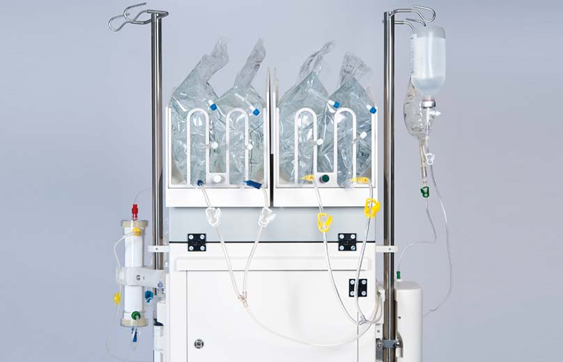Back of multiFiltrate acute therapy machine